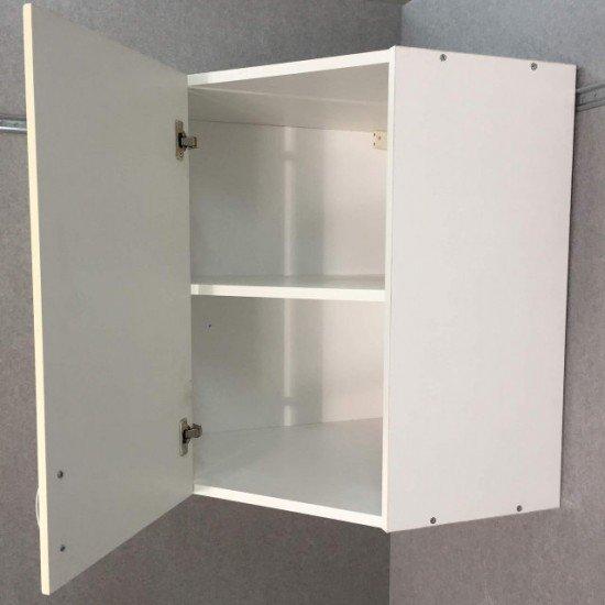 Купить Шкаф верхний угловой 600x720x600, Болонья Бежевая на Diportes.Store Недорого.