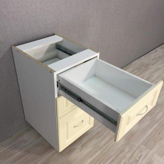 Купить Тумба нижняя 2 ящика +1 ящик 400x820x470, Болонья Бежевая на Diportes.Store Недорого.