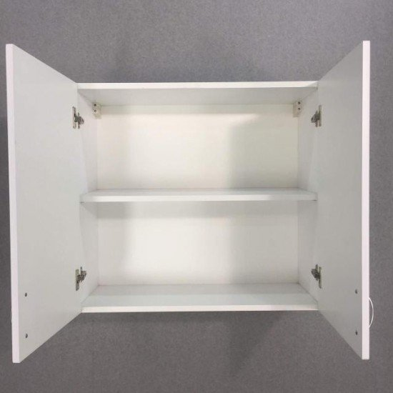Купить Шкаф верхний 2 двери 600x720x300, Женева Белая на Diportes.Store Недорого.