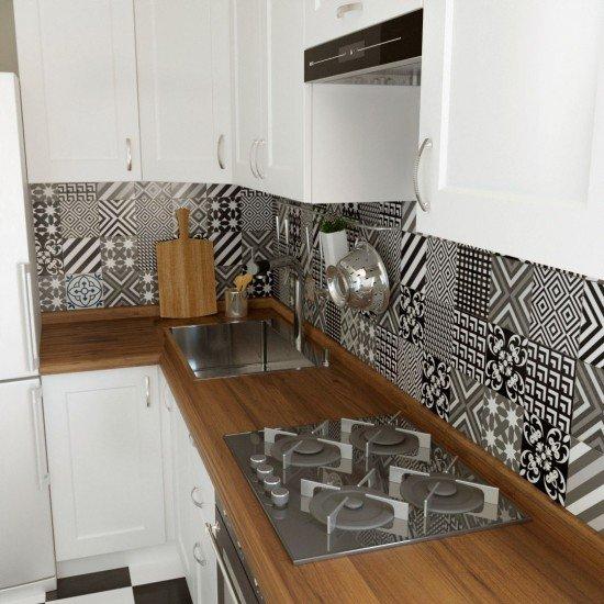 Купить Кухня угловая Женева, белая 1x2.5 м на Diportes.Store Недорого.