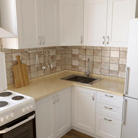 Купить Кухня угловая Женева, белая 1.4x1.4 м на Diportes.Store Недорого.