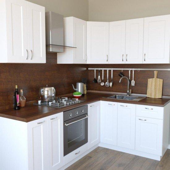 Купить Кухню угловую Женева, белая 2.2x1.6 м на Diportes.Store Недорого.