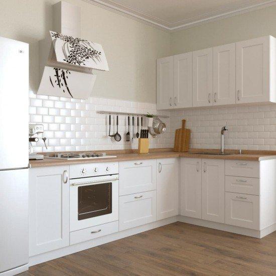 Купить Кухня угловая Женева, белая 2.6x1.6 м на Diportes.Store Недорого.