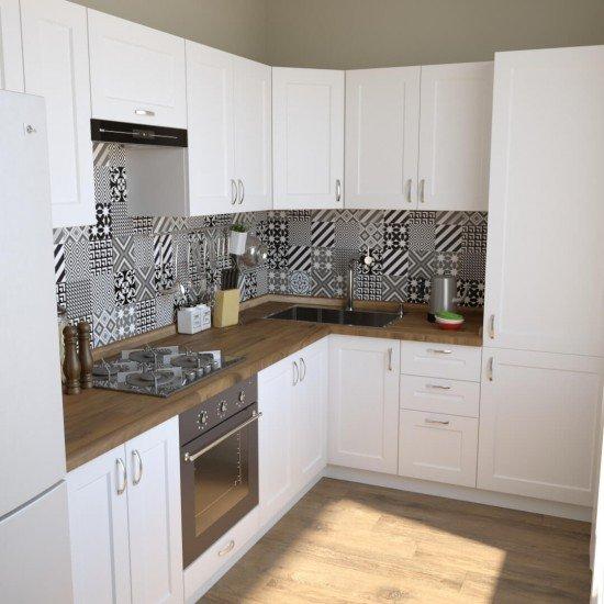 Купить Кухня угловая Женева, белая 2,6x2 м на Diportes.Store Недорого.