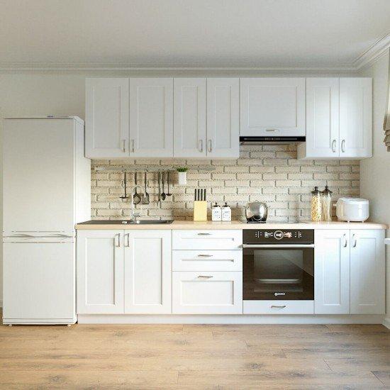 Купить Кухня Женева, белая 2,6 м на Diportes.Store Недорого.